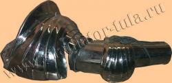 Руки латные рыцарские максимиллиановского типа с полнообъемным наборным наплечником с грангардами, пара.