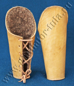 Наручи кожаные, на шнуровке (пара)