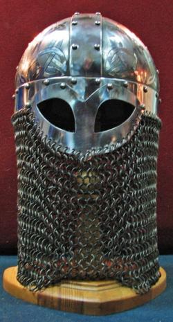 Шлем викинга, каркасный с полумаской