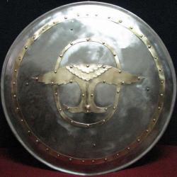 Щит стальной - Ангел, круглый, формованный.